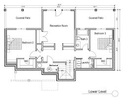 house plans ranch walkout basement simple house plans with walkout basement and pool placement
