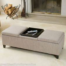 ottoman with storage and tray ottoman coffee table ebay