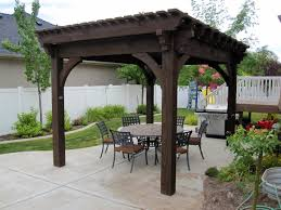 12 X 16 Pergola by 25 Easy To Do Outdoor Dining Rooms Western Timber Frame