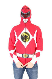 i am red ranger full zip costume hoodie sweatshirt mighty