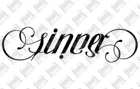 sinner saint ambigram perfect next tattoo tattoos pinterest
