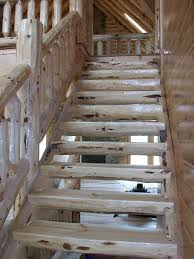 log stair materials red pine i wood care