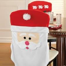 santa chair covers christmas kitchen chair cover featuring mr and mrs santa claus