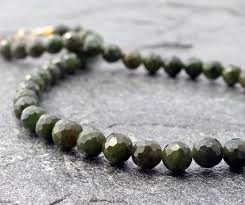 jade with gold necklace images Faceted canadian nephrite jade gold necklace spiral river jewelry jpg