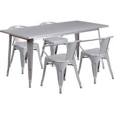 Silver Dining Table And Chairs Silver Dining Sets Ebay