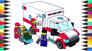 coloring pages for kids lego city ambulance coloring page to