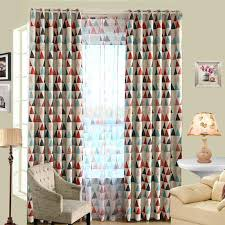 Pattern Drapes Curtains Modern Triangle Pattern Window Curtain Panel Eyelet Drape Hotel