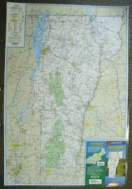 Manchester Vt Map Vermont Laminated Wall Map Jimapco