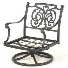 Patio Chair Swivel Rocker St Augustine By Hanamint Luxury Cast Aluminum Patio Furniture