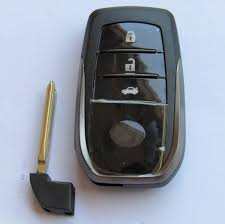 toyota car and remotes car smart key shell for toyota 3 button remote key blank