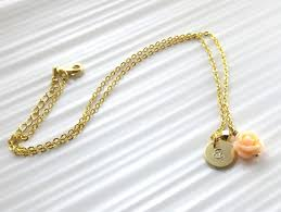 Children S Jewelry Children U0027s Gold Initial And Flower Necklace Personalized