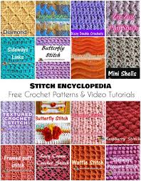 crochet pattern videos for beginners stitch encyclopedia free crochet patterns and video tutorials