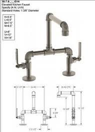 watermark elan vital bridge kitchen faucet 38 7 5 ev4 ebay