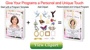 make your own funeral program make a funeral program create funeral programs