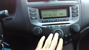honda accord radio recall radio audio issue with the 2006 honda accord
