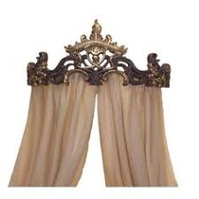 Large Crown Wall Decor Bed Crown Canopy Crib Crown Teester Carved Wood Mahogany