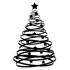 black christmas trees christmas tree clipart black clipartxtras