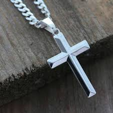 man necklace silver sterling images Mens cross necklace sterling silver cross necklace elegant etsy jpg
