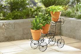 garden display ideas rustic four tier plant stand wooden pot stand wooden pallet trays