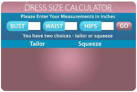 dress size calculator