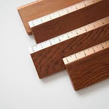 handmade wood handmade wood and copper chilean rulers made in chile office supplies