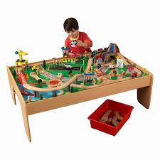 kidkraft train table compatible with thomas kidkraft metropolis train table set compatible thomas table designs