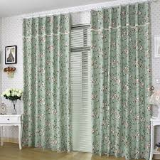 Cotton Drapes Country Style Bud Green Little Floral Cotton Curtains Buy Bud