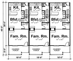 family floor plans marydel multi family triplex plan 026d 0146 house plans and more