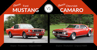 chevy camaro through the years ford mustang vs chevrolet camaro