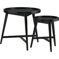 crate and barrel nesting tables crate and barrel nesting tables set of 2 white nesting tables in