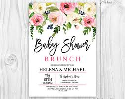 brunch invites baby shower brunch etsy