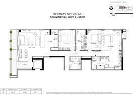 3 Bedroom Villa Floor Plans by Serenity Sky Villa U2013 45 Exclusive Sky Villas In District 3 Ho Chi