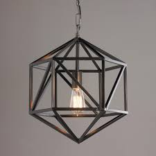 Pendant Light Contemporary Prism Cage Pendant Light Contemporary Geometric Style Meets A