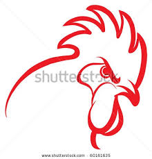 fighting roosters clipart