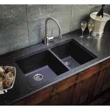 black countertop with black sink black kitchen sinks undermount cook with thane