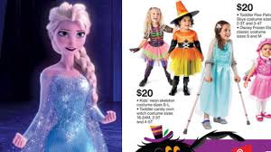 frozen family halloween costumes mom praises target for featuring child with special needs in