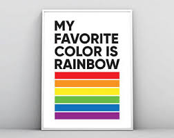 rainbow poster etsy