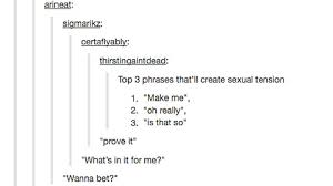 Sex Tumblr Memes - common phrases which cause sexual tension imgur