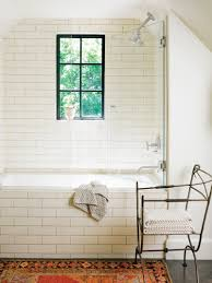 bathroom with subway tile subway tile in the bathroom apartment therapy