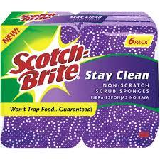 scotch brite pads scouring and steel wool pads at ace hardware scotch brite stay clean non scratch scrub sponge 6 pack 20206