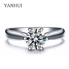 aliexpress buy anniversary 18k white gold filled 4 compare prices on carat gold filled ring online shopping buy