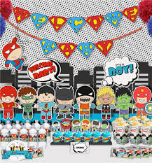 marvel baby shower baby superheroes pop baby shower party package