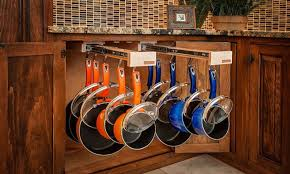 kitchen cabinet organizers for pots and pans