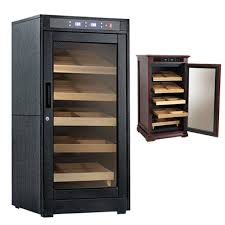 Redford Electronic Cabinet Cigar Humidor Redford Lite Cabinet 1250 Ct Black Oak Each