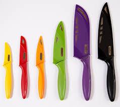 Set Of Kitchen Knives Zyliss Zyliss 6 Kitchen Knife Set With Sheath Covers