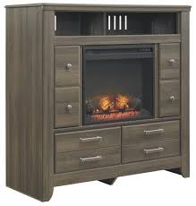 media chest with electric fireplace insert by signature design by