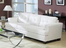 bonded leather living room 15095 white