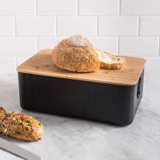 cuisine bodum bodum bistro bread bin black kitchen stuff plus
