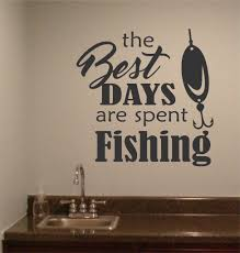 best days spent fishing wall quotes sports decal vinyl best days spent fishing wall quotes sports decal vinyl lettering