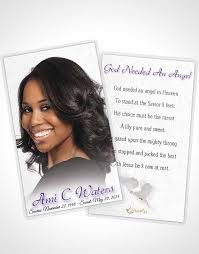 Funeral Card Template 2 Page Grad Fold Funeral Program Template Brochure Lavender Purity